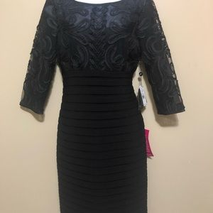 NWT Adrianna Papell black cocktail dress, size 8